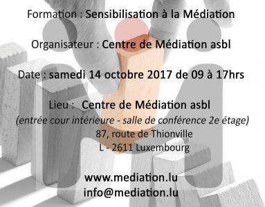 SENSIBILISATION À LA MÉDIATION – 14/10/2017